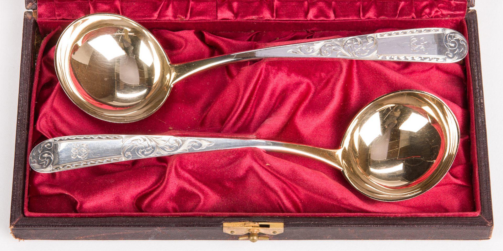Lot 883: Pair Cased S. Kirk & Son Silver Ladles