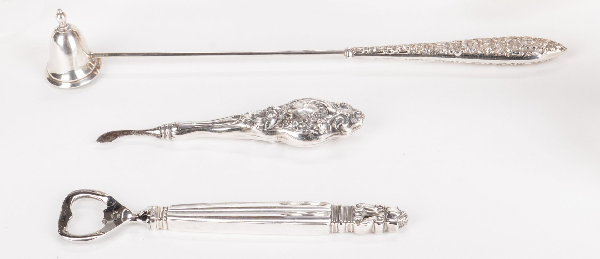Lot 884: 12 sterling items incl. candelabra