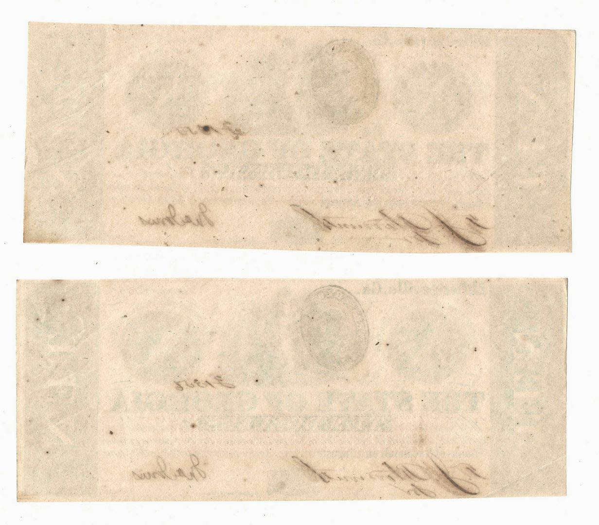 Lot 888: 4 Civil War Notes, inc. State of Georgia