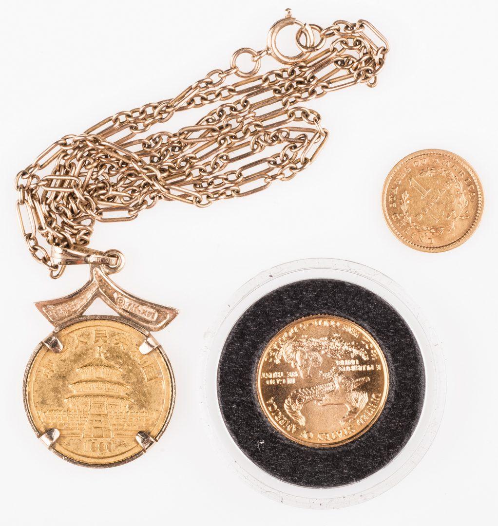 Lot 892: Lot of 3 Gold Coins, inc. 1853 $1 US Liberty Head
