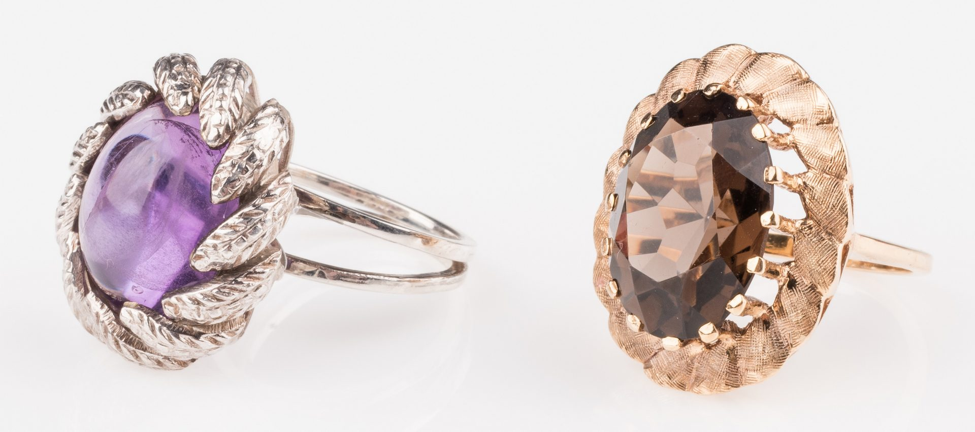 Lot 895: 2 Fashion rings, 14K Topaz, SS Amy