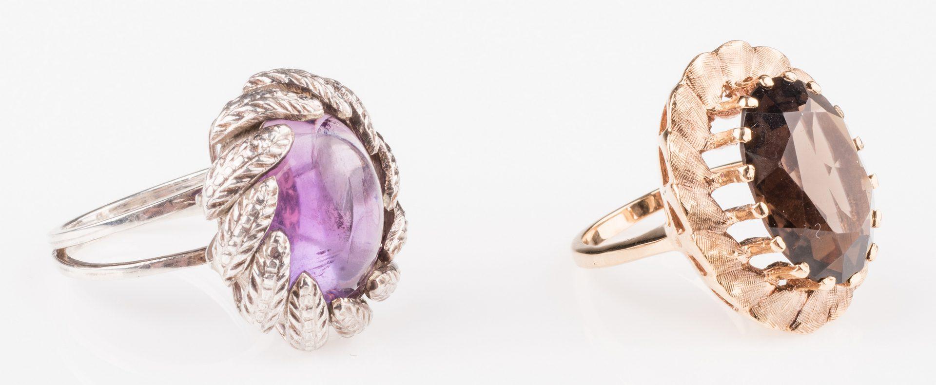 Lot 895: 2 Fashion rings, 14K Topaz, SS Amy