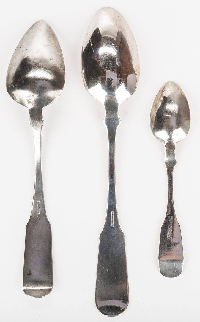 Lot 92: 3 Rare Tennessee Coin Silver Spoons