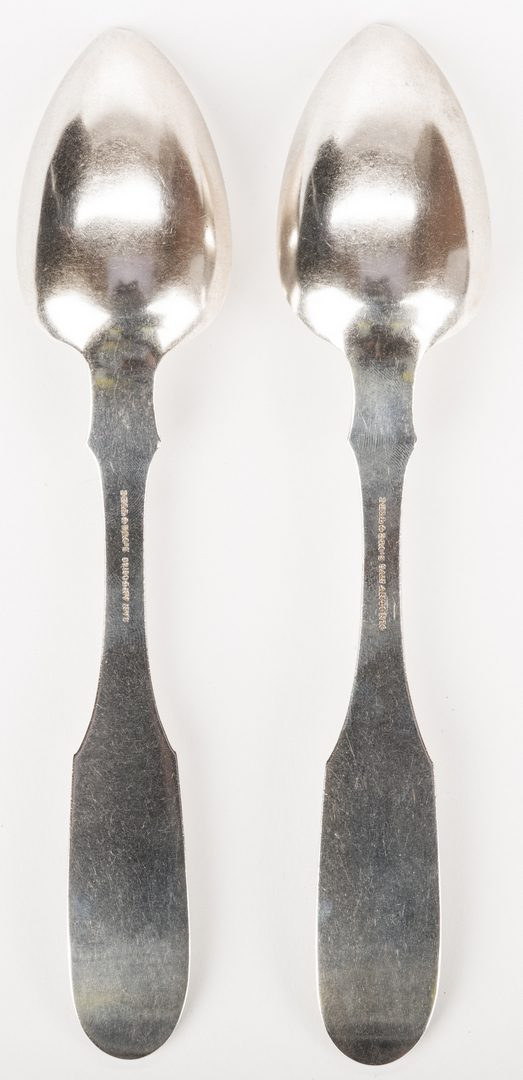 Lot 93: 2 Bell Texas Coin Silver Spoons