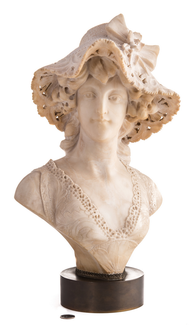Lot 97 A Cipriani Marble Bust Of Woman