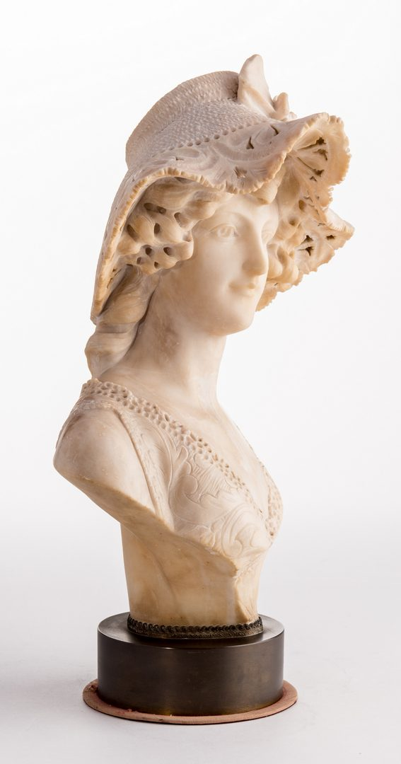 Lot 97: A. Cipriani Marble Bust of Woman