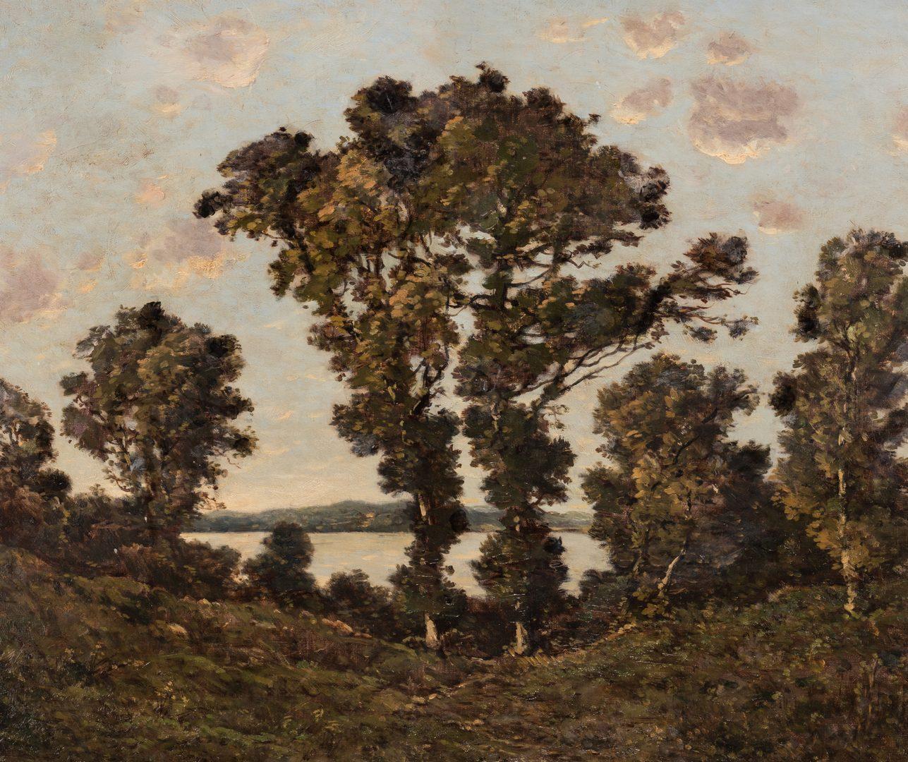 Lot 98: Henri-Joseph Harpignies, O/C, River Landscape
