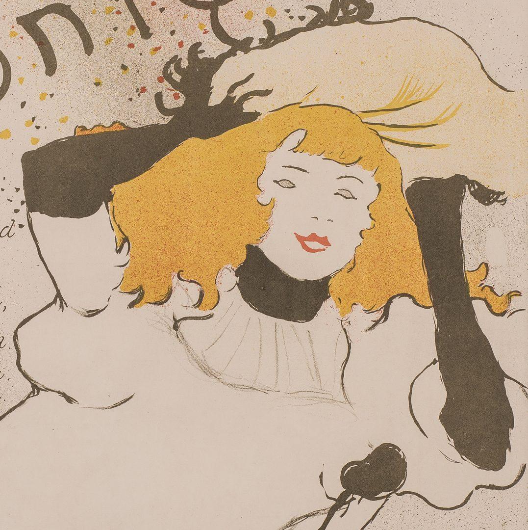 Lot 99: Toulouse Lautrec Lithograph, Confetti