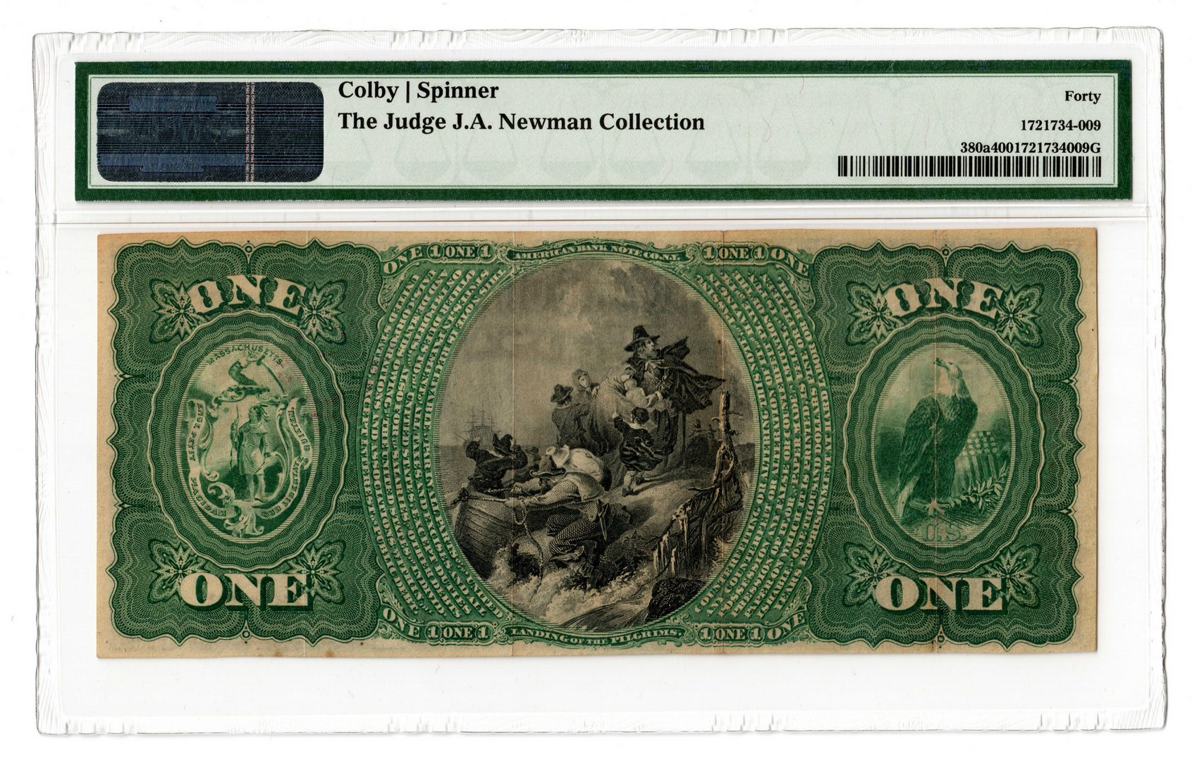 Lot 100: 1865 $1 Maverick National Bank of Boston National