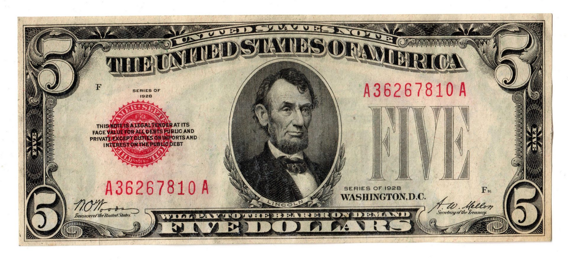 Lot 10: 1928-1957 11 Note Group Including 5 Silver Certificates