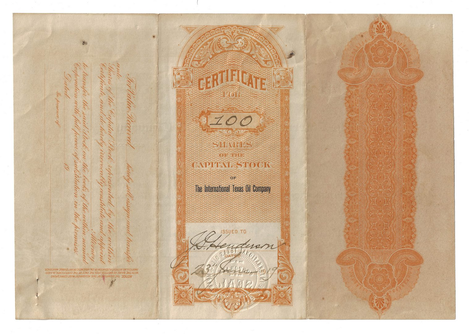 Lot 110: 14 Stock Certificates inc. Duesenberg, 18 items
