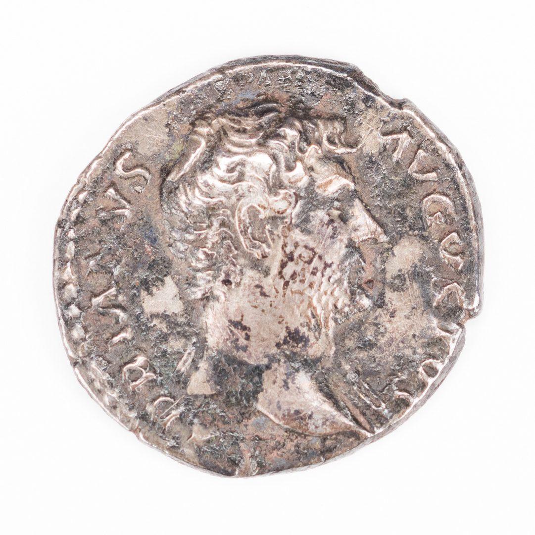 Lot 111: Hadrian/Pietas AG Denarius Coin