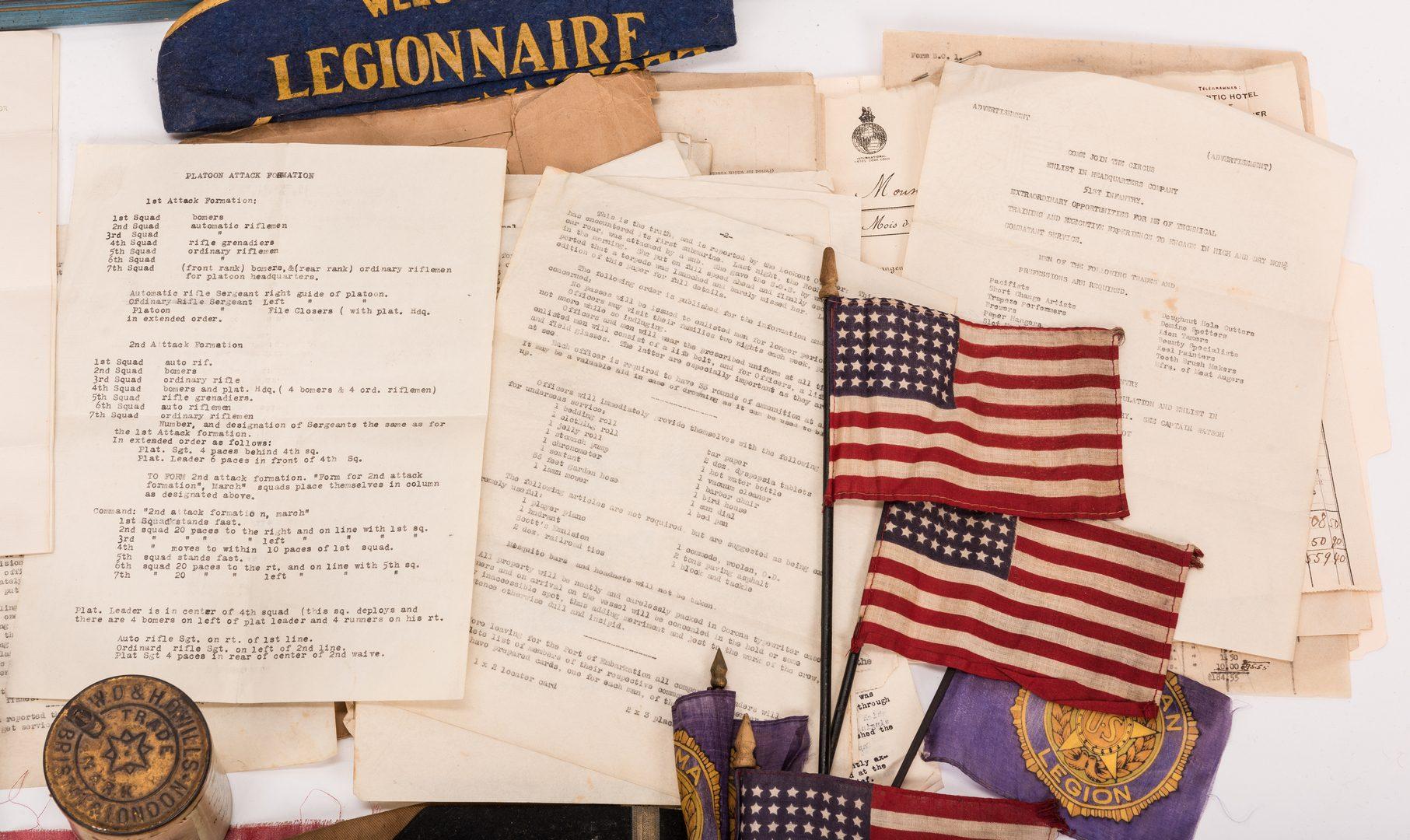 Lot 112: World War 1 Archive, First Lieutenant James A. New