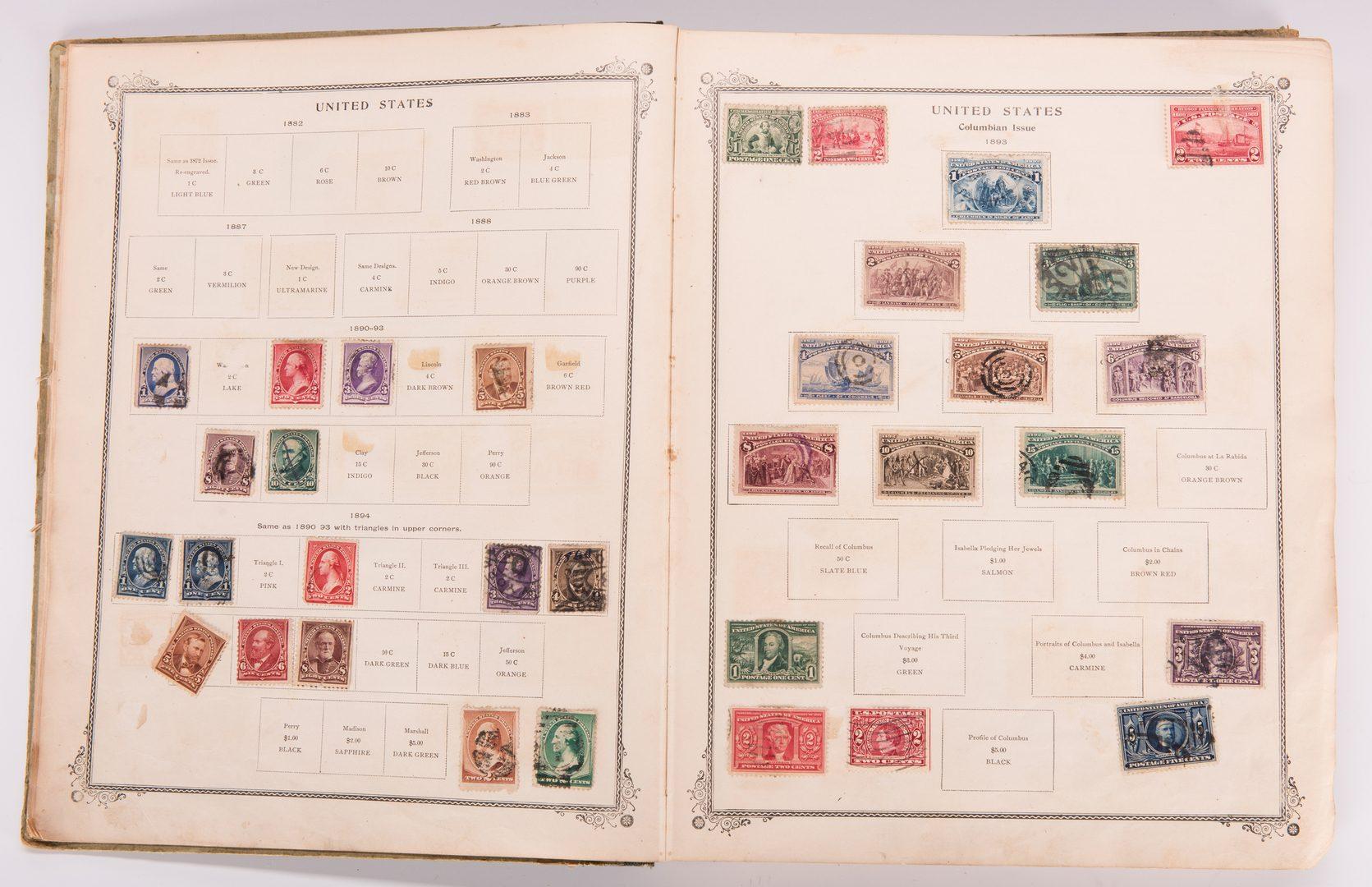 Lot 114: Scott's International Postage Stamp Album, 1902