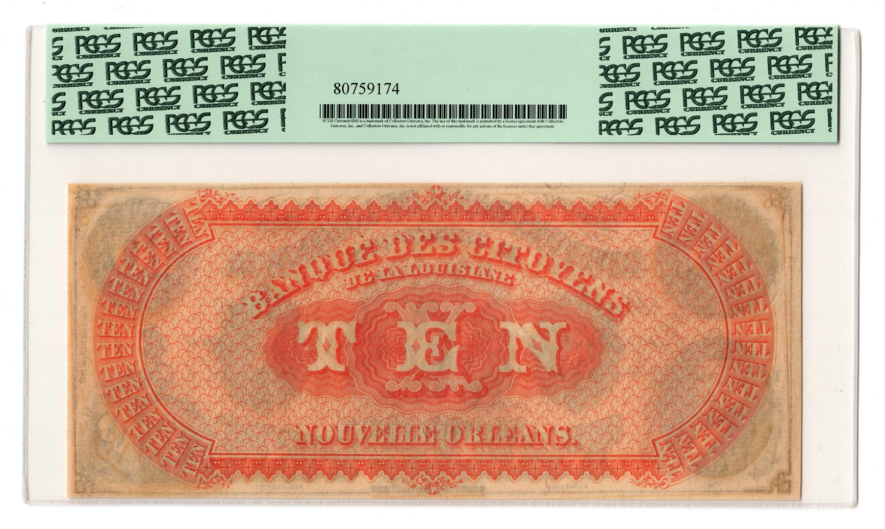 "Lot 119: 3 Louisiana Obsolete ""Remainder"" Banknotes"