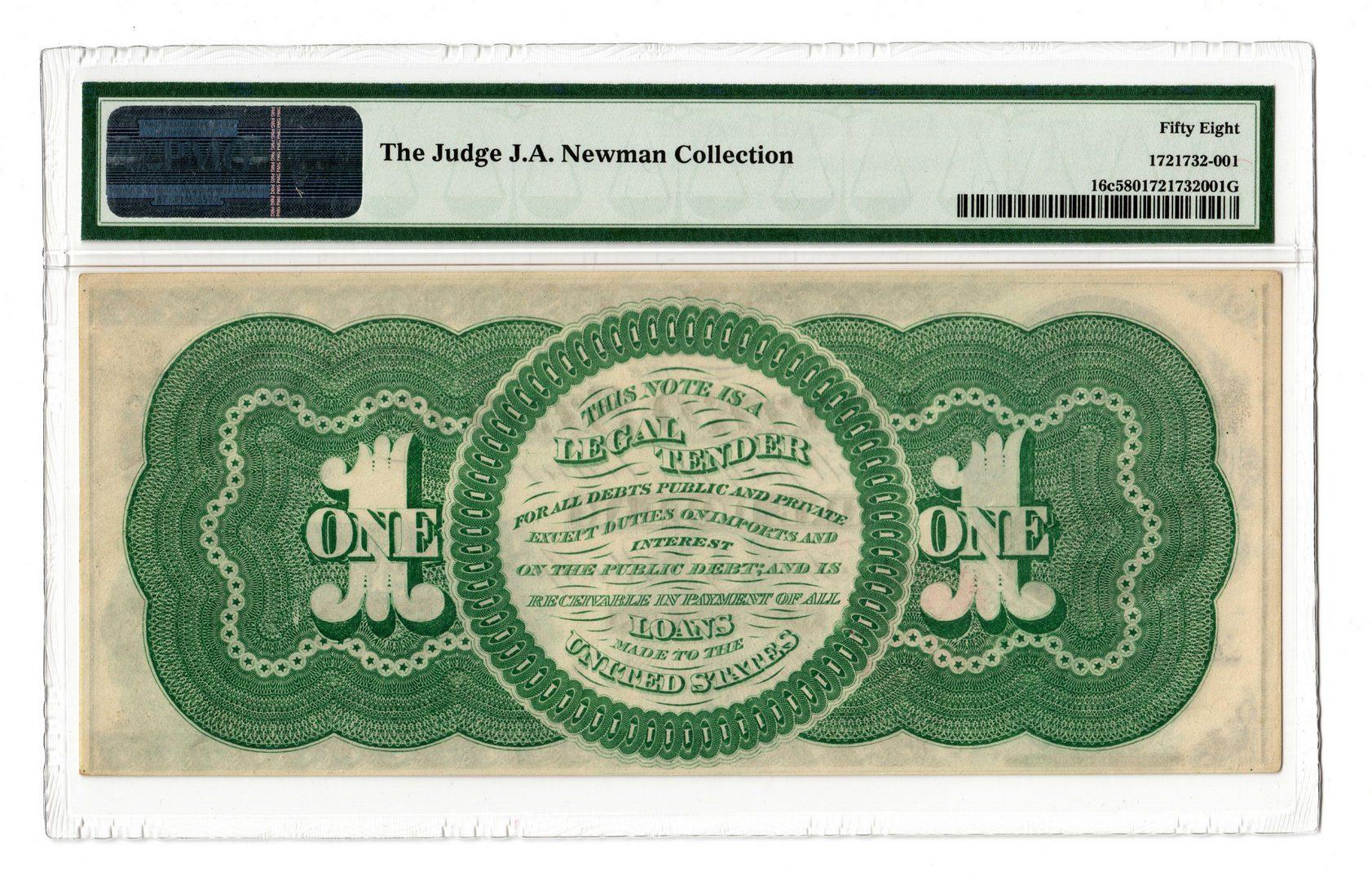 "Lot 11: 1862 U.S. $1 ""Greenback"" Legal Tender Note"