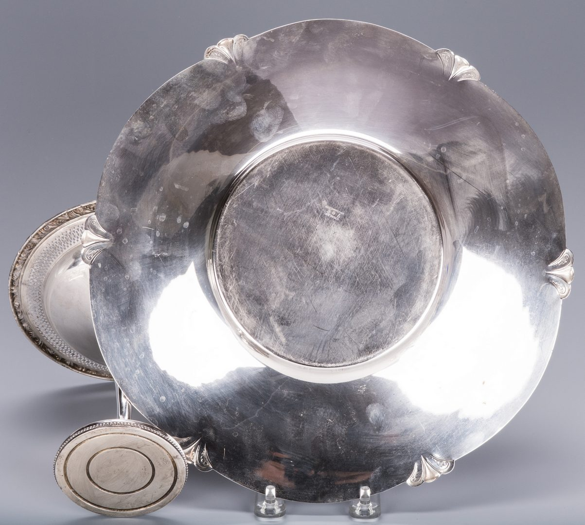 Lot 121: Sterling Silver Table Items & 12 Cut Glass Items