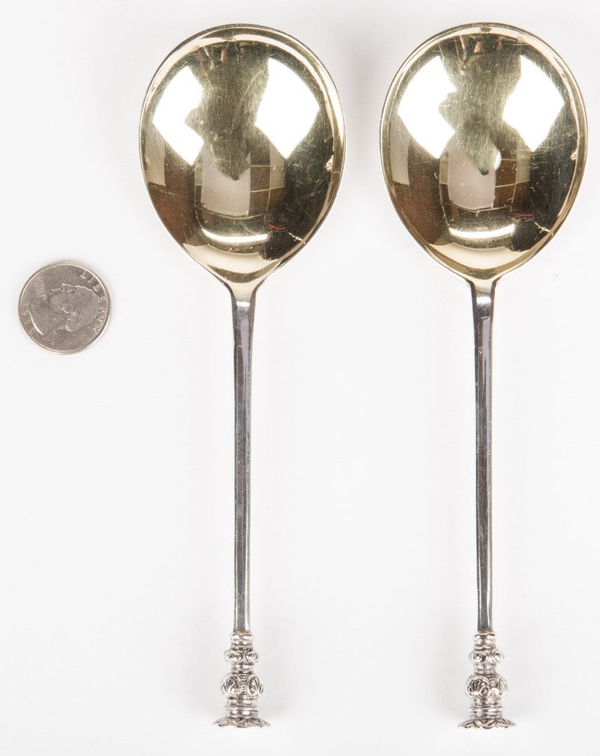 Lot 127: 15 pcs silver including Seal Top Spoons