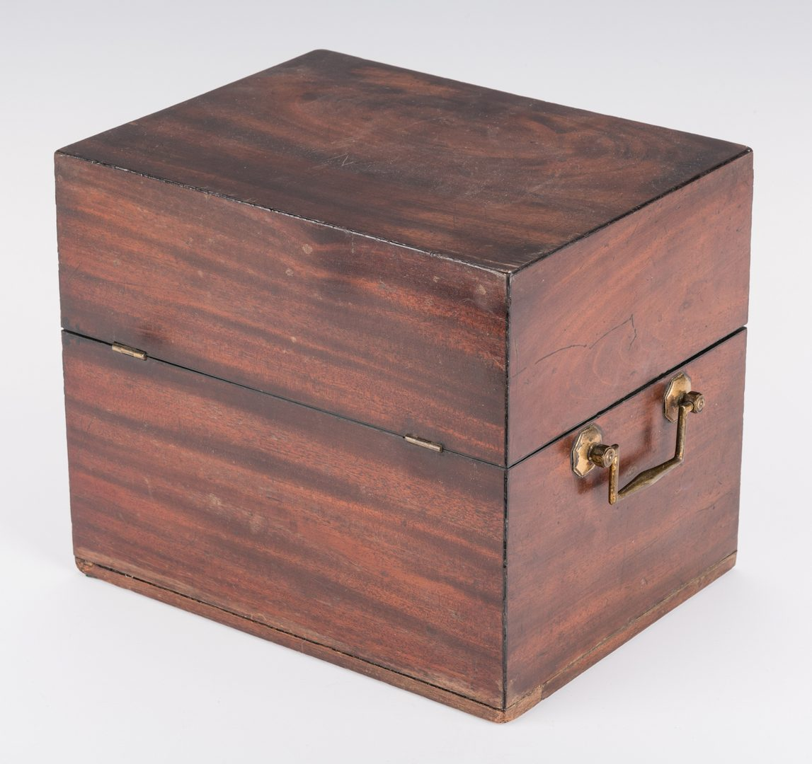 Lot 129: Tantalus, Mahogany Case and Bottles