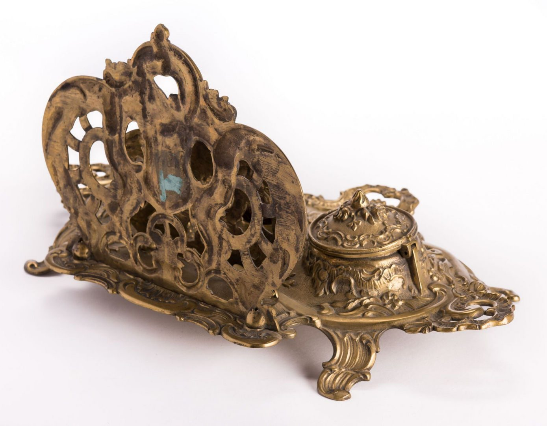 Lot 130: French Bronze Desk Set, 4 pcs