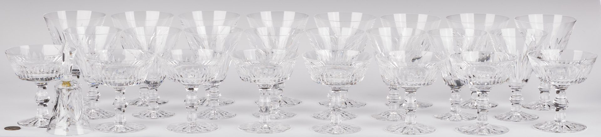 "Lot 131: Group Waterford ""Eileen"" Crystal Glassware, 25 pcs"