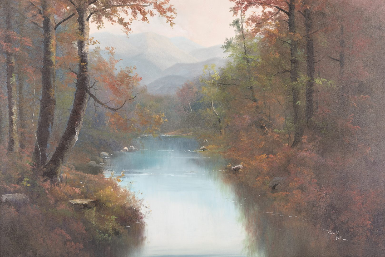 Lot 138: Ron Williams, Autumn Mountain Landscape
