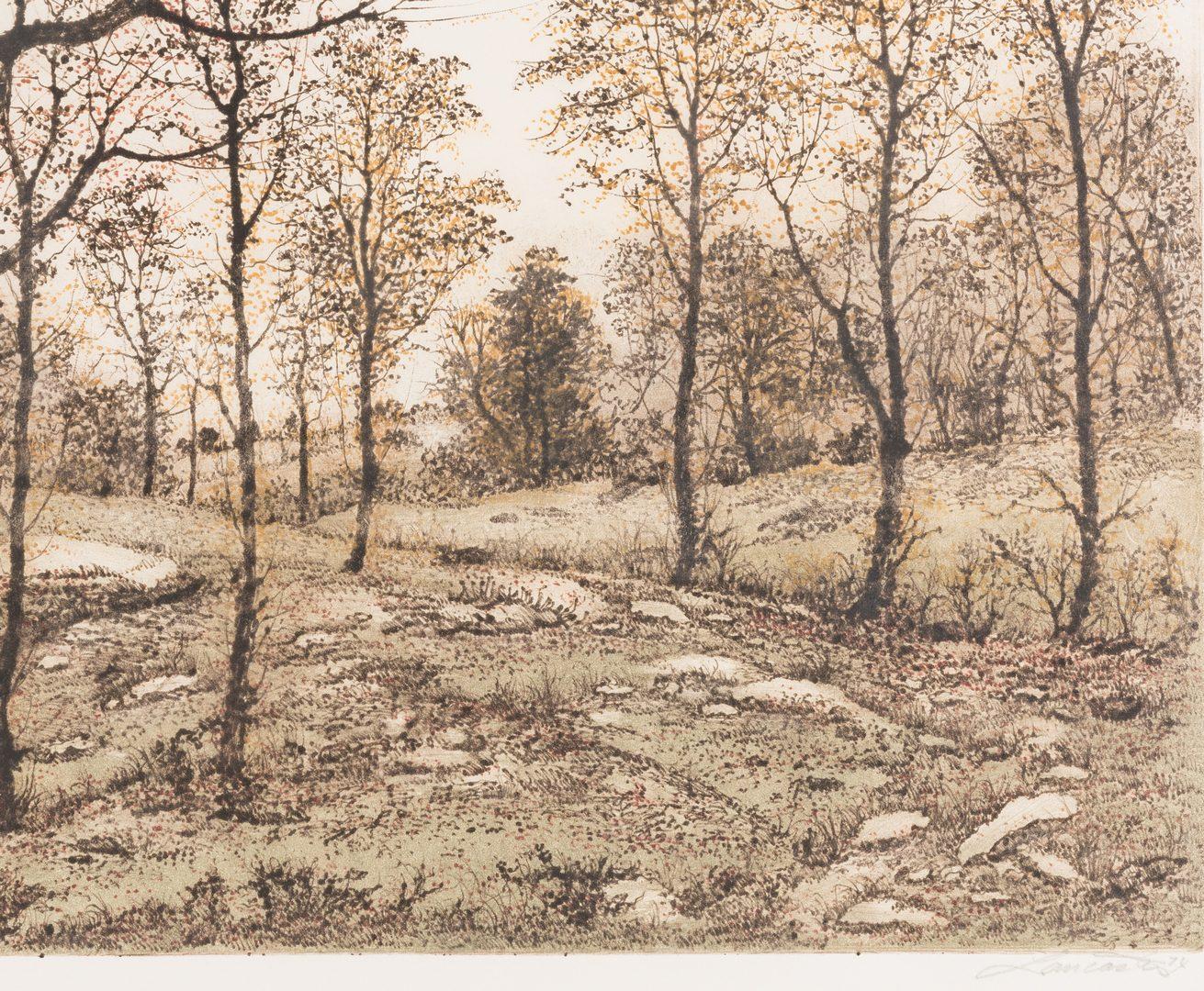 Lot 139: 3 Paul Lancaster Colored Etchings