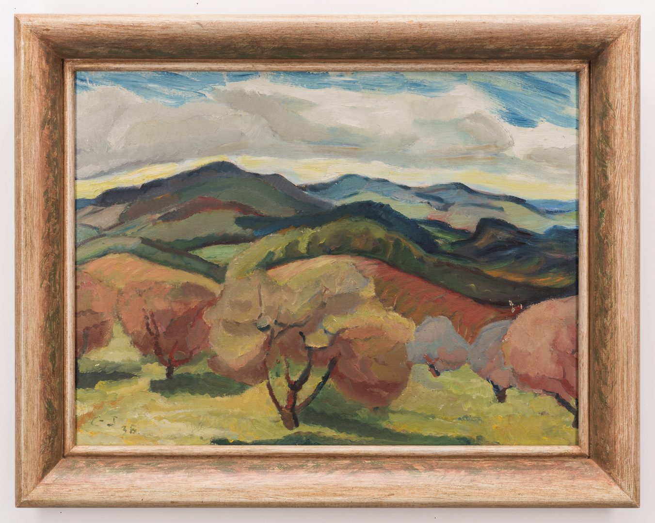"Lot 141: American School, O/B, ""Blue Ridge Mountains"""