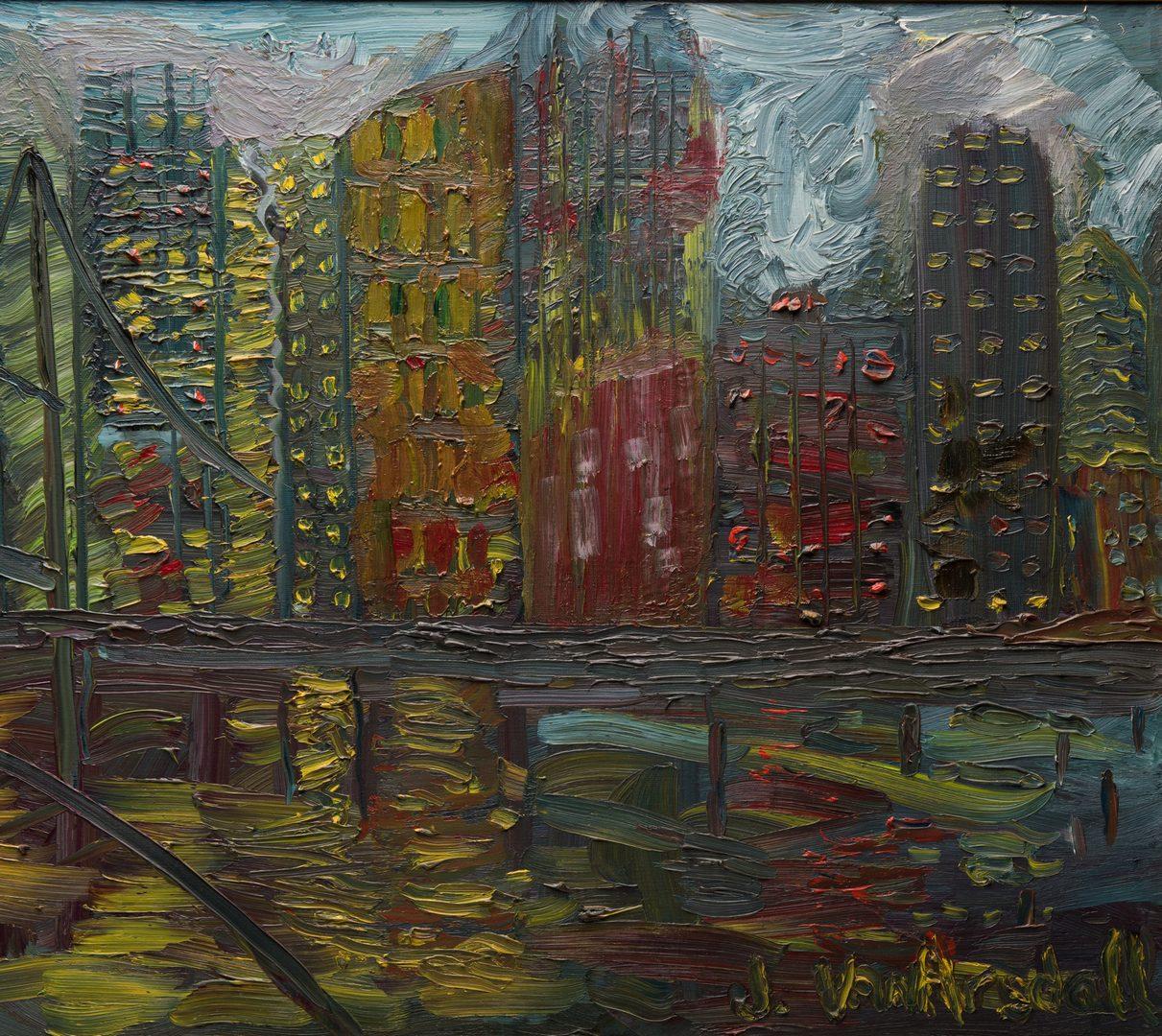 "Lot 142: June Yan (Van) Arsdell, O/C, ""Night Reflections,"""