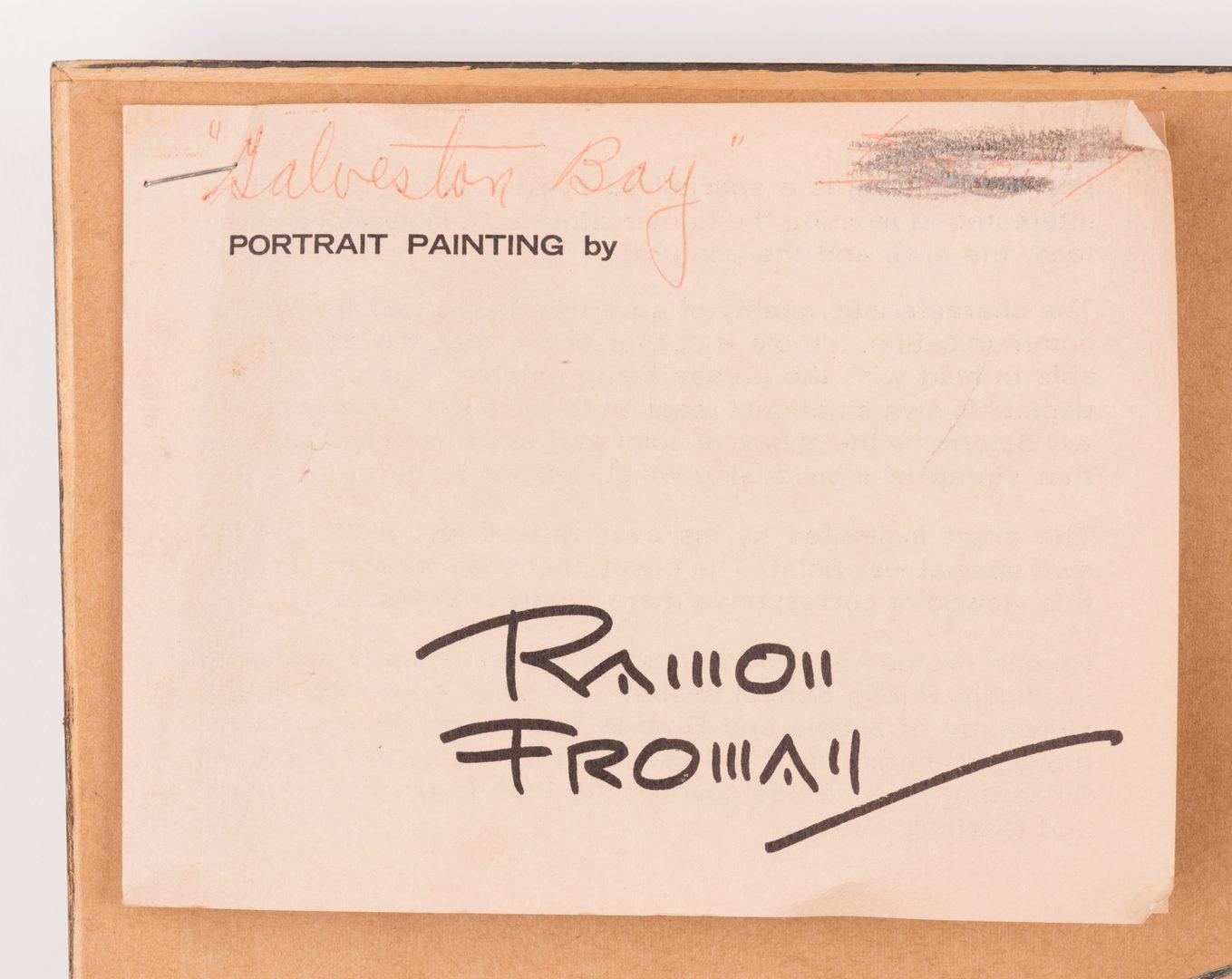 "Lot 143: Ramon Froman W/C ""Galveston Bay"""
