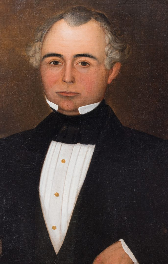 Lot 146: American School, Gentleman's Portrait