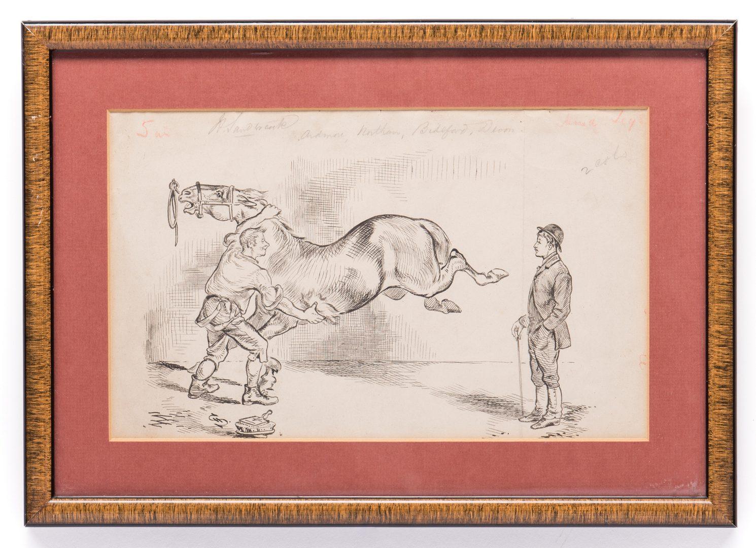 Lot 155: 7 Henry Ardmore Sandercock Rural Ink Drawings