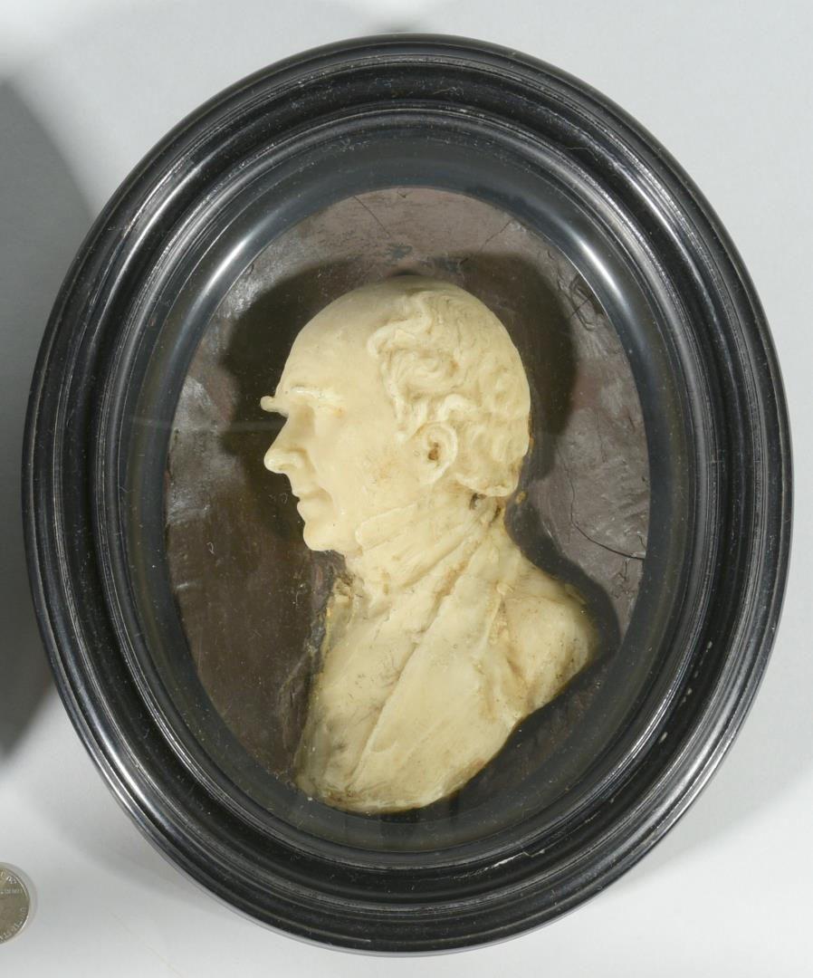 Lot 157: Pr. 19th c. Wax Portraits