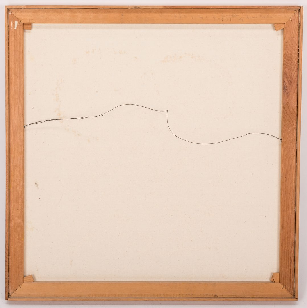 Lot 160: M. Lee Abstract Painting, Square shape