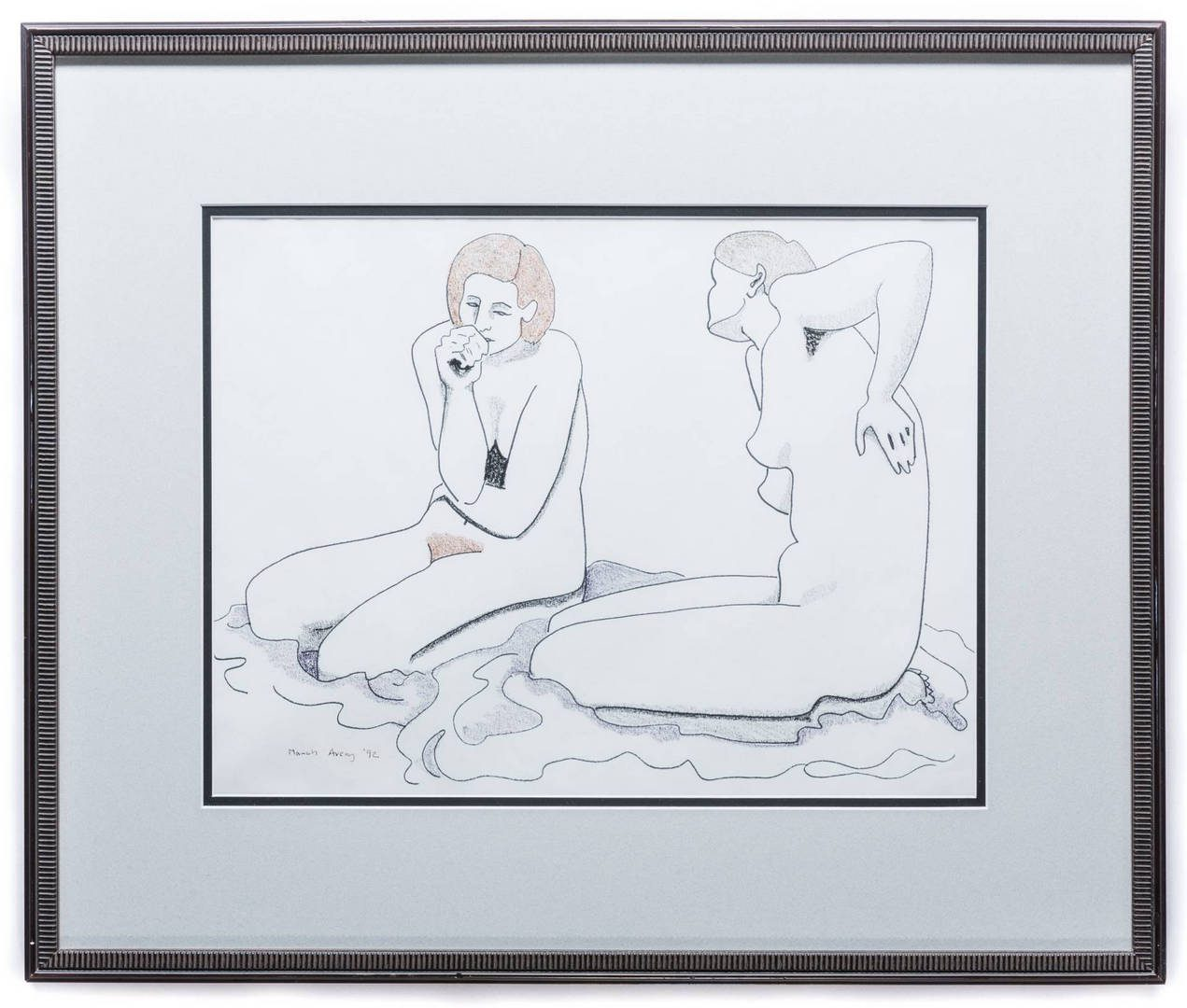 Lot 162: March Avery Nude Drawing