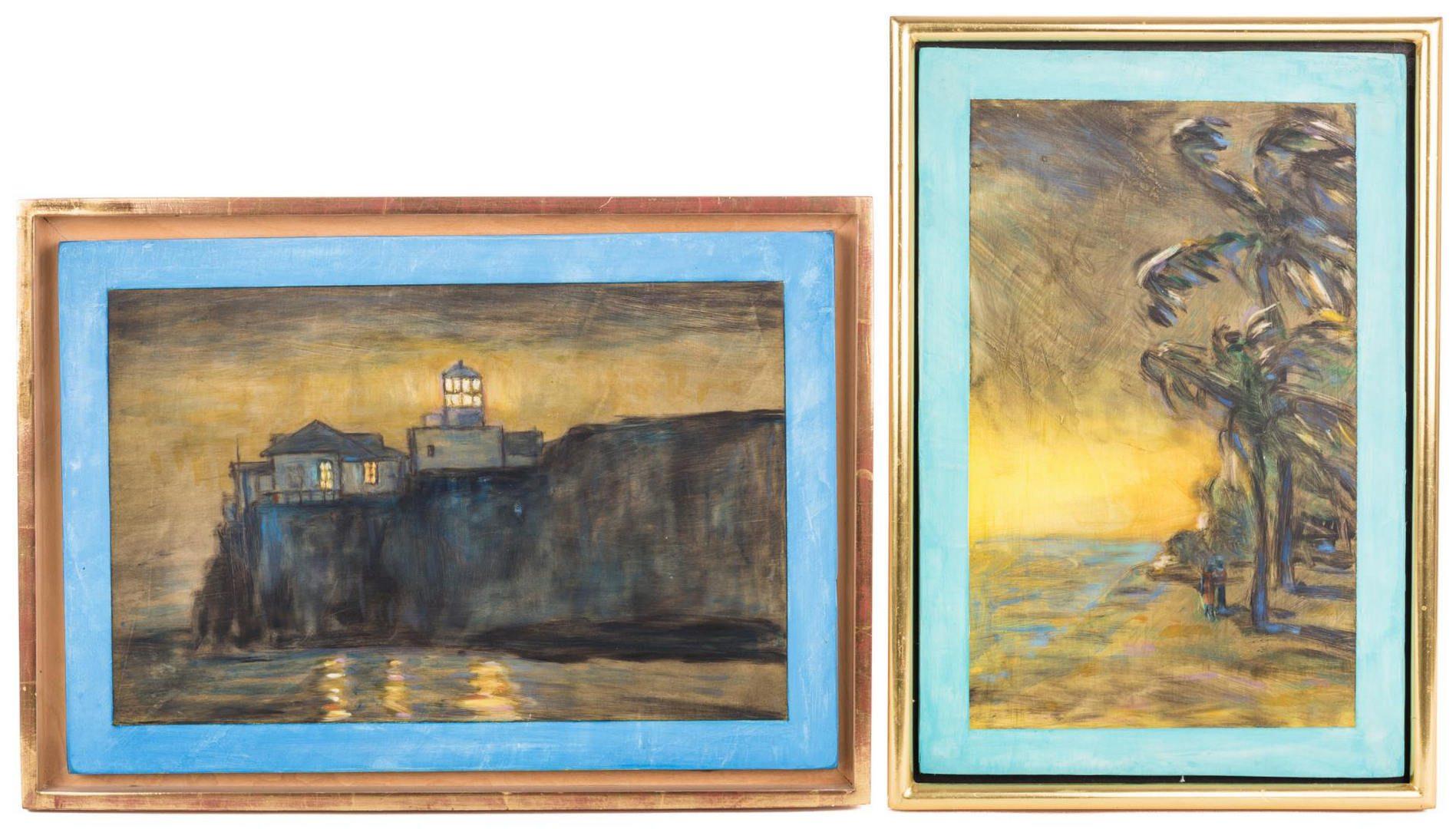 Lot 163: 2 Susan Hall Landscape Paintings