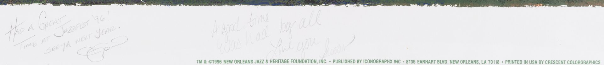 Lot 165: 1996 Pete Fountain N. O. Jazz & Heritage Festival