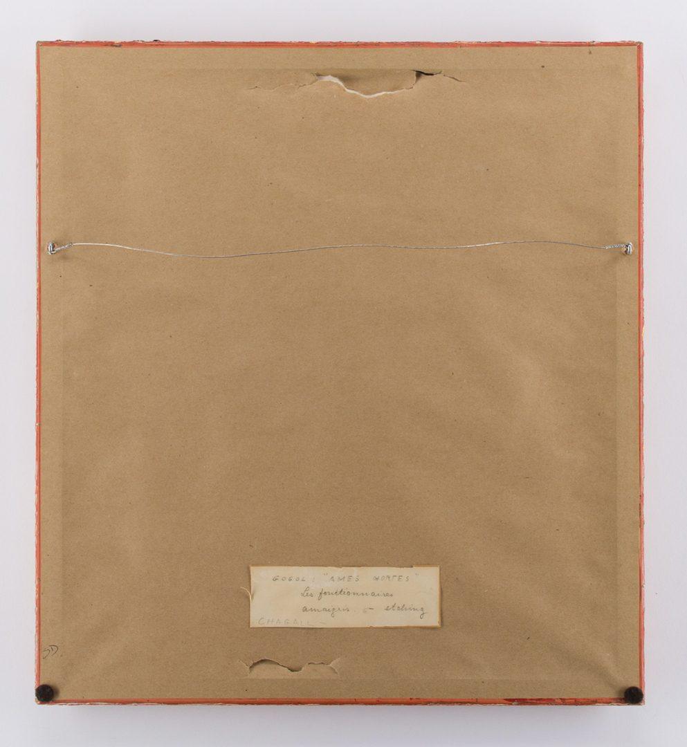 Lot 166: Marc Chagall Etching, Les Fonctionnaires Amaigris