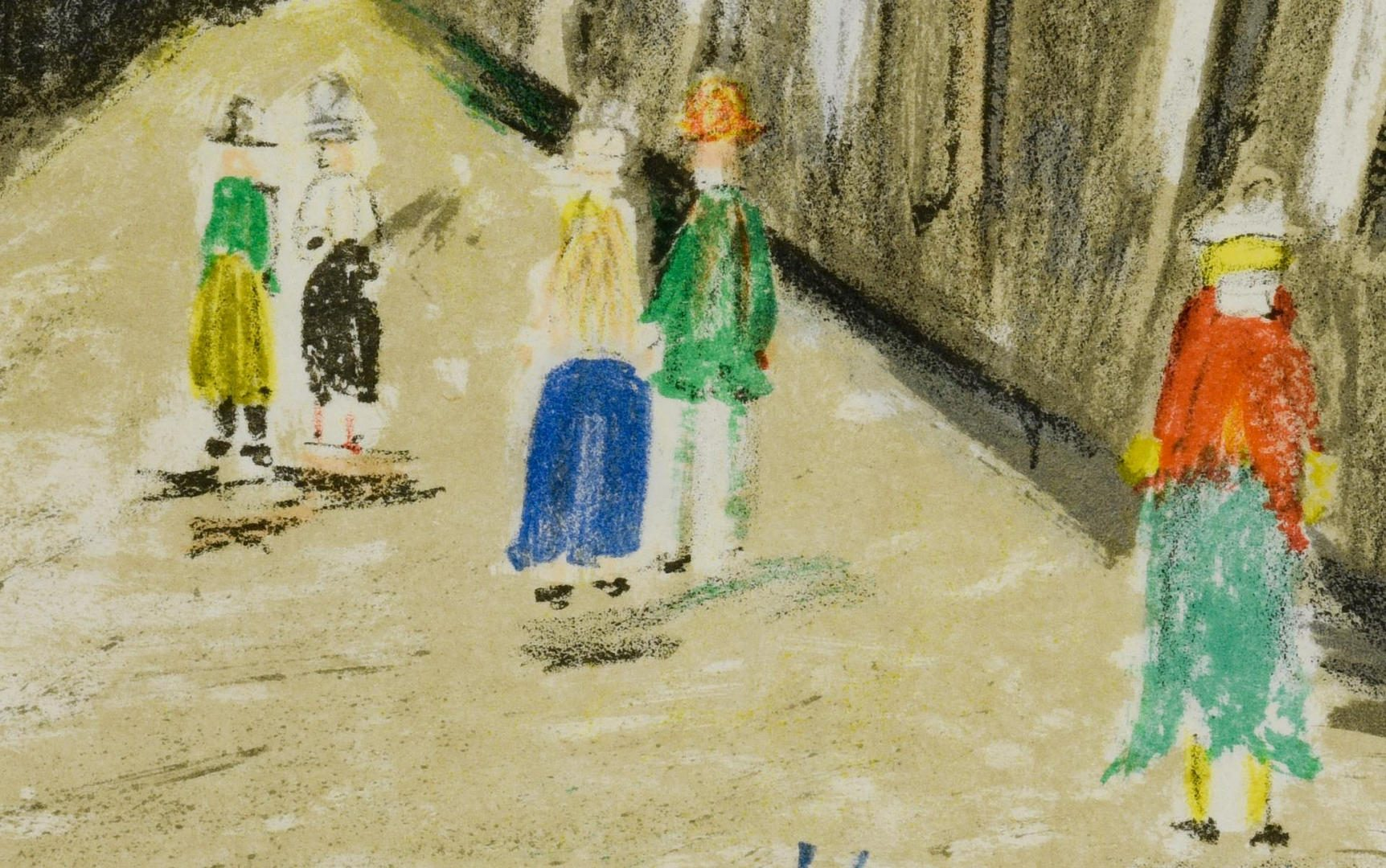 Lot 168: 2 Maurice Utrillo Lithographs, Street Scenes