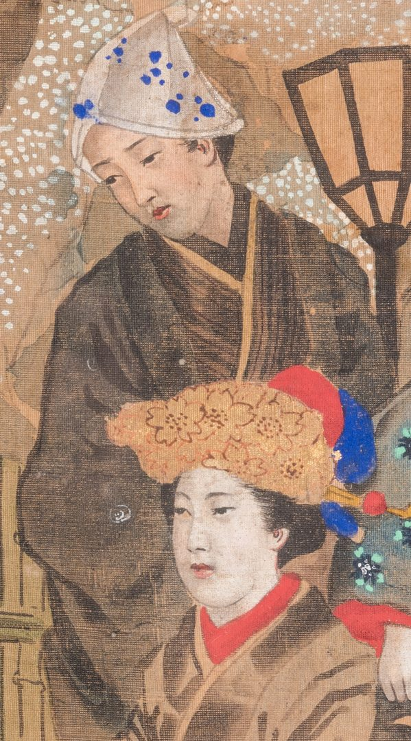 Lot 170: Japanese Painting on silk, Meiji Period