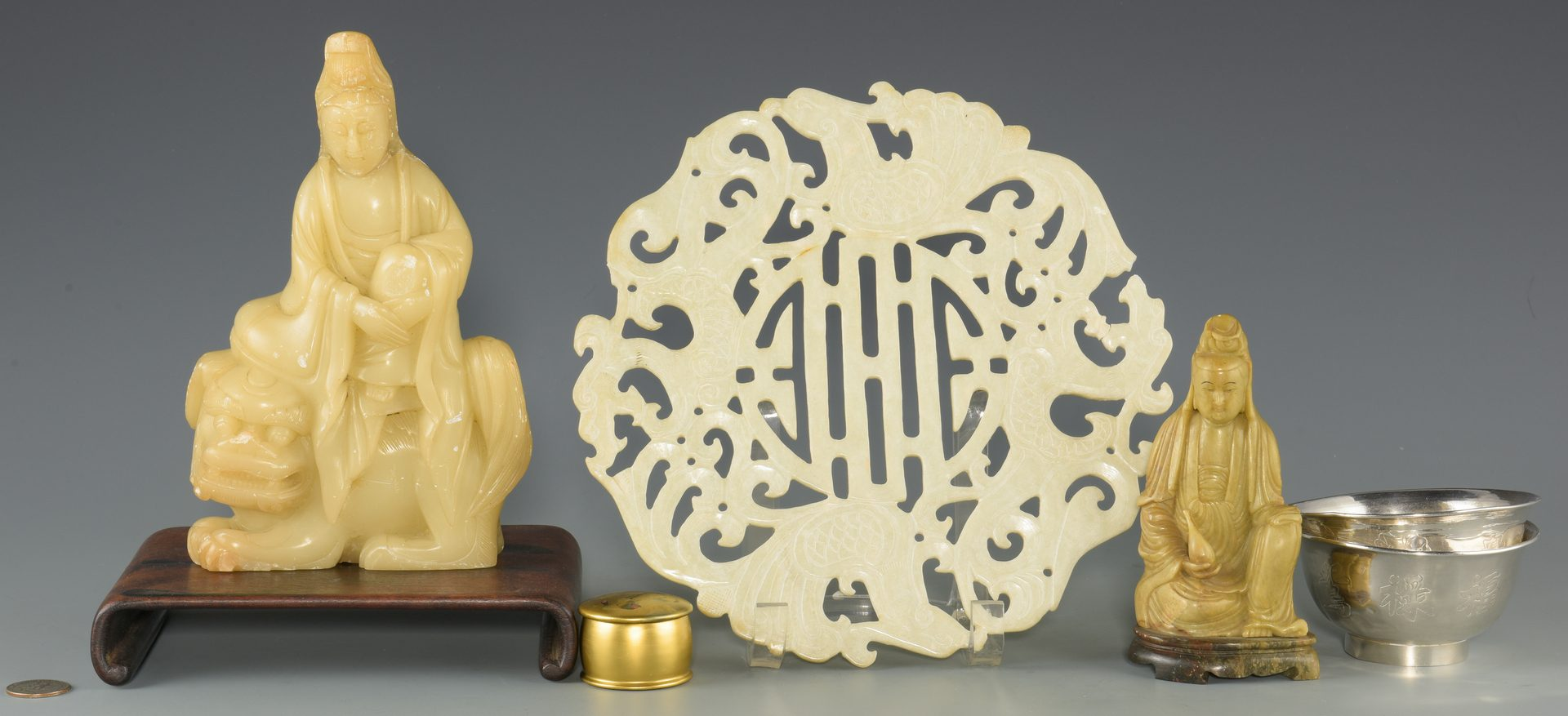 Lot 178: 6 Chinese & Asian Decorative Items, inc. Silver