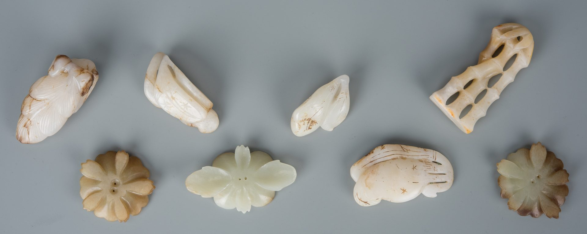 Lot 180: 8 Chinese Jade Carved Toggles