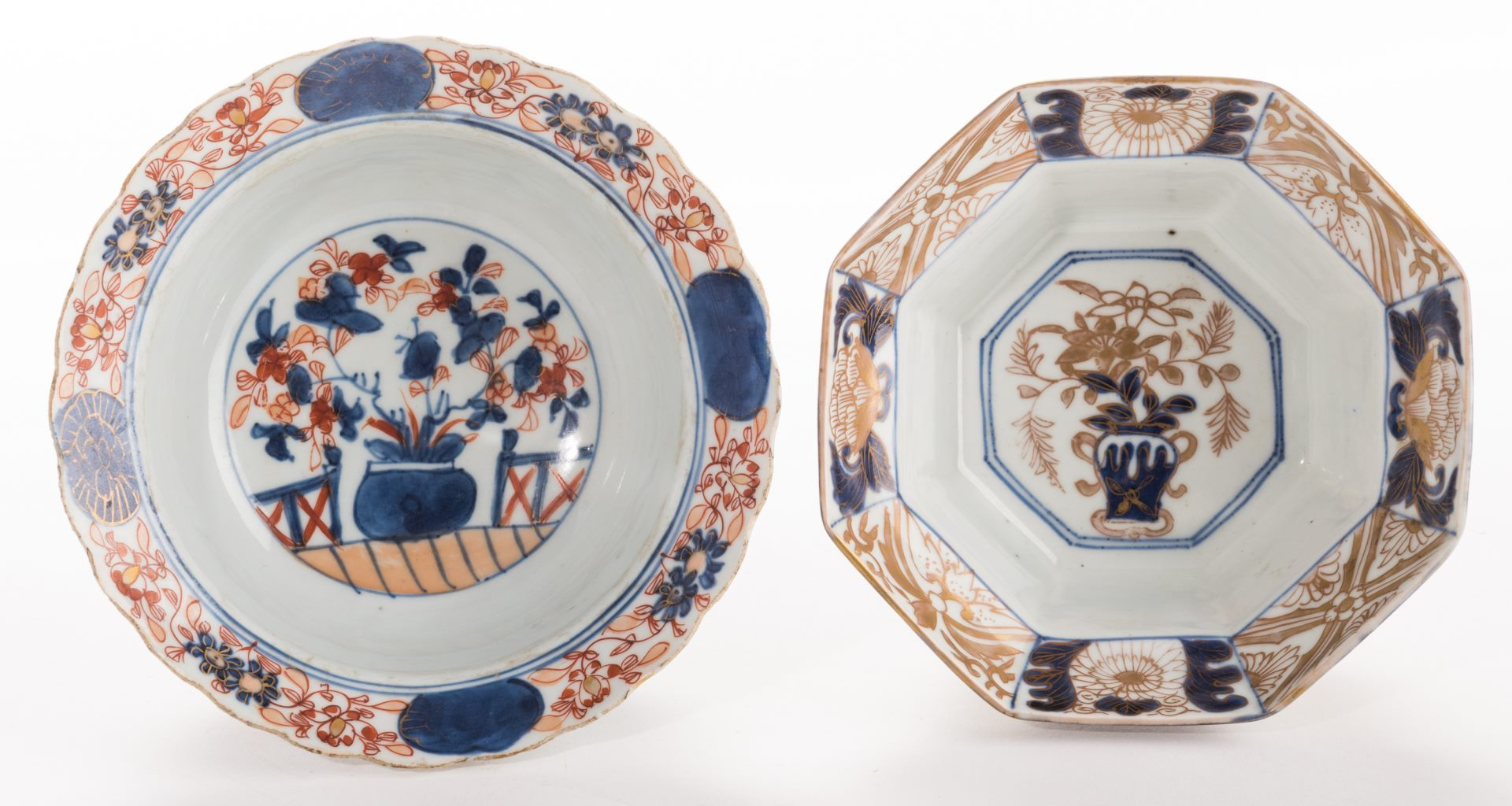 Lot 183: Two Small Asian Porcelain Bowls, 18th c.