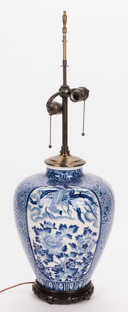 Lot 187: Chinese Porcelain Blue & White Lamp