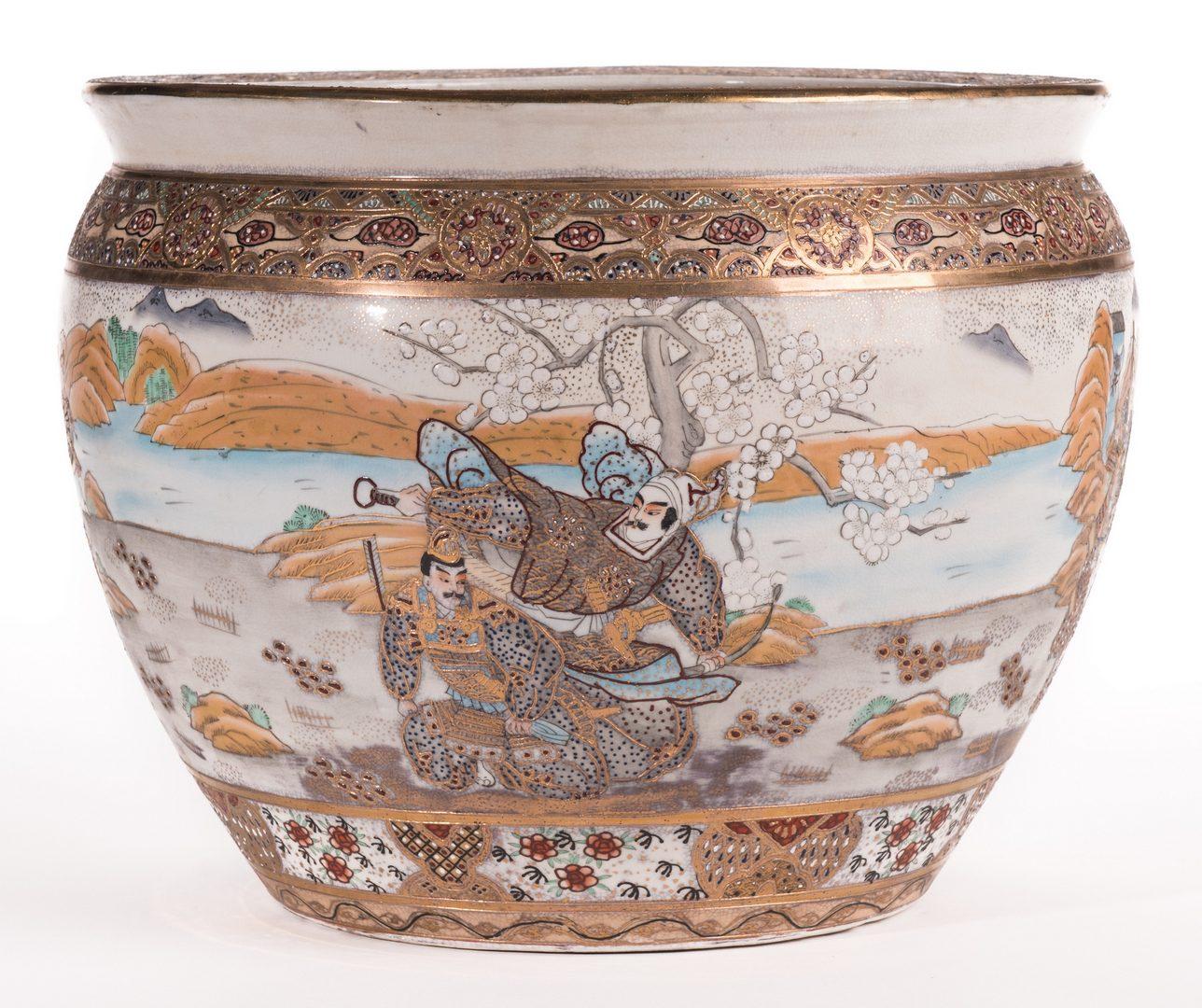 Lot 188: Japanese Satsuma Porcelain Fish Bowl