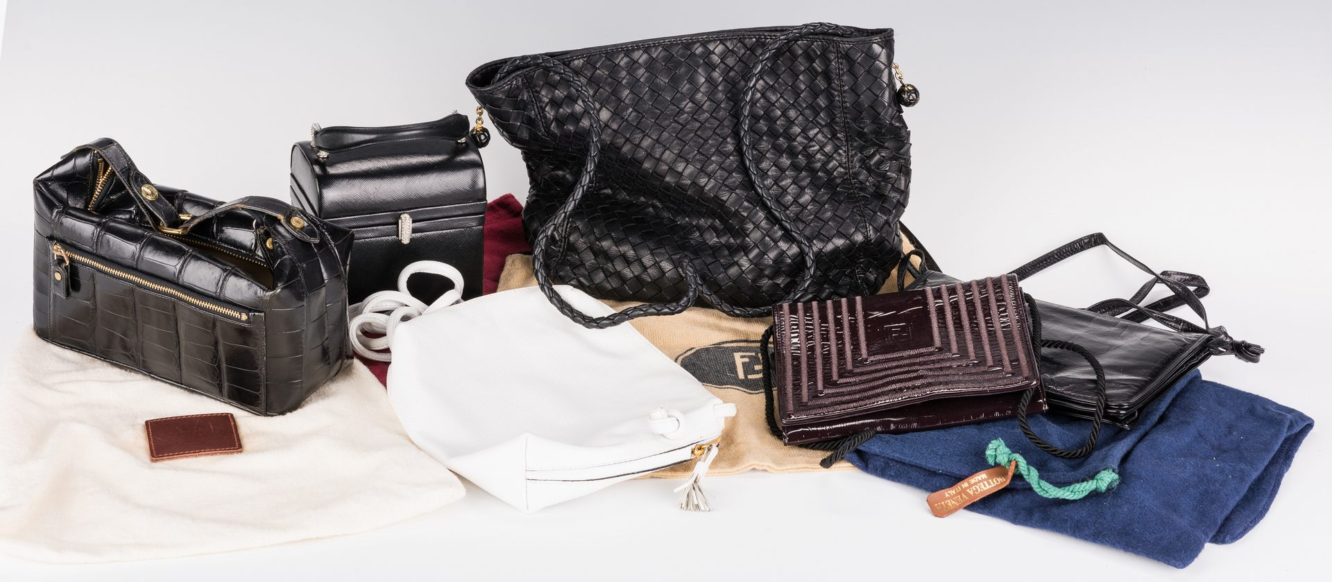 Lot 190: 6 Designer Purses, inc. Bottega Veneta, Fendi