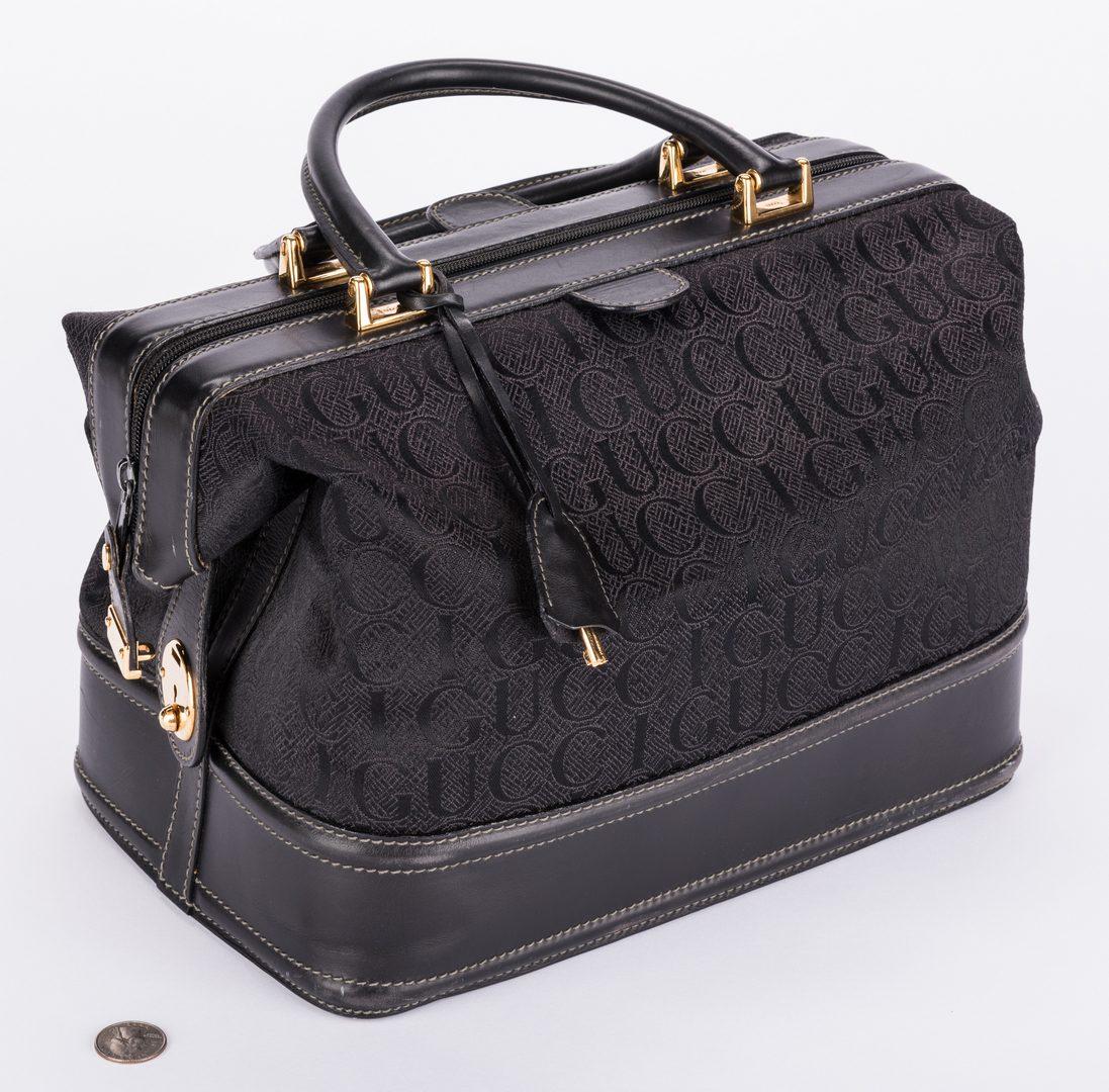 Lot 193: Black Gucci Doctor Bag