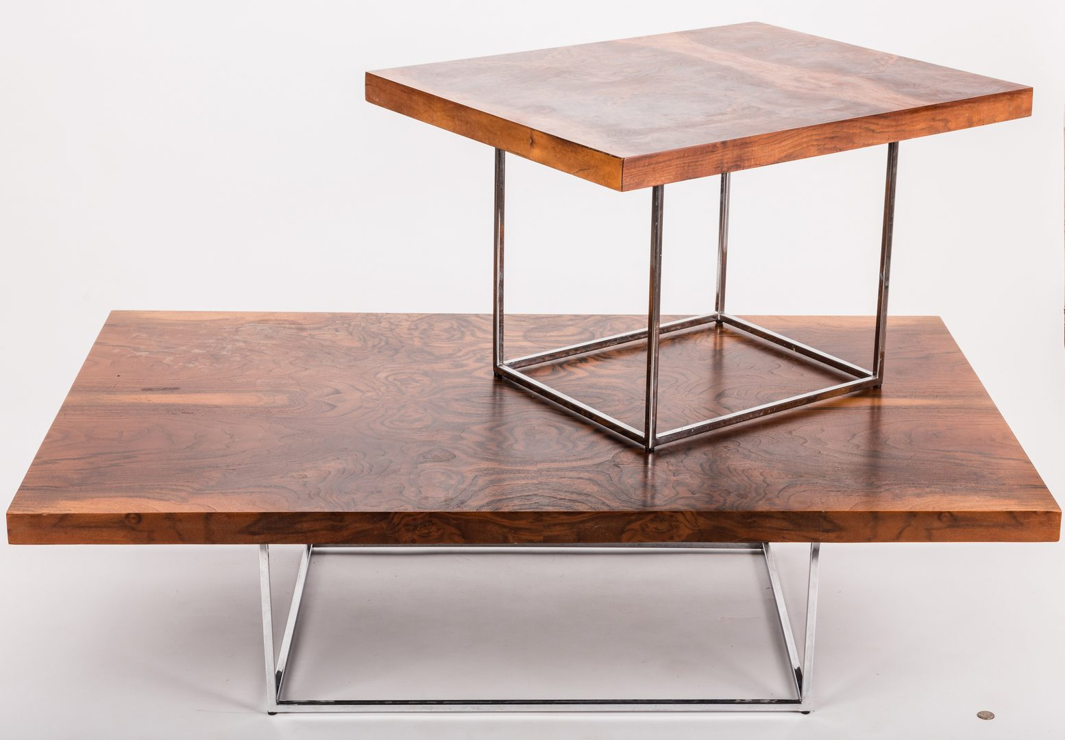 Lot 197: Mid-century coffee and side table
