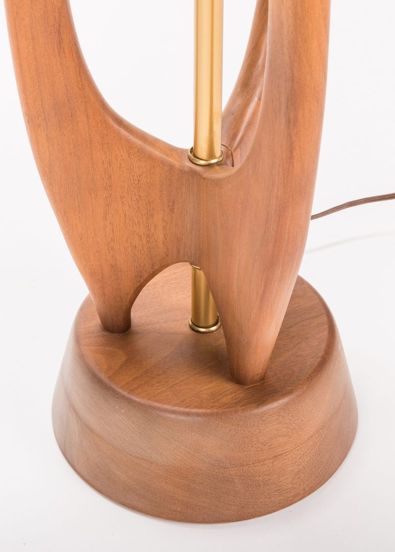 Lot 199: Mid-Century Modern Sculptural Teak Lamp