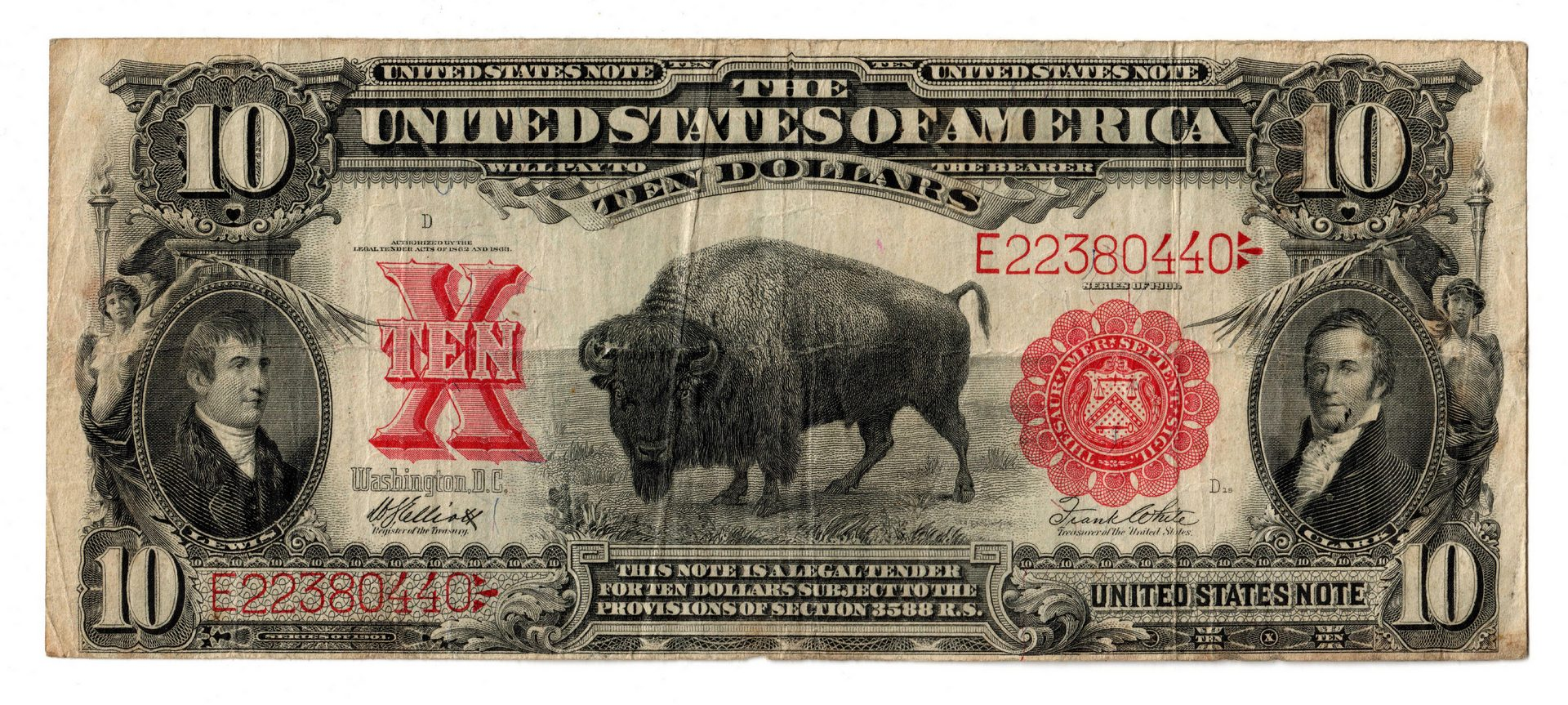 "Lot 19: Pair Of $10 Legal Tender Notes, inc. ""Bison"""